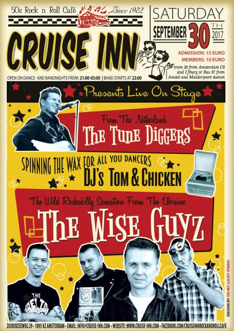 Live music - rockabilly - Cruise Inn - bandposter