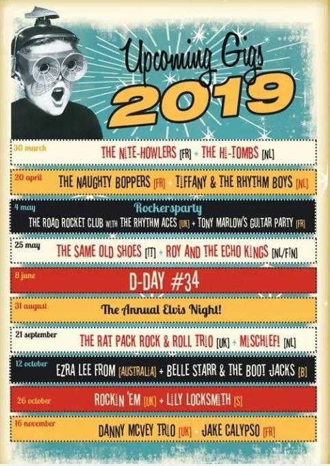 Overview bands and D-Day - Cruise Inn 2019