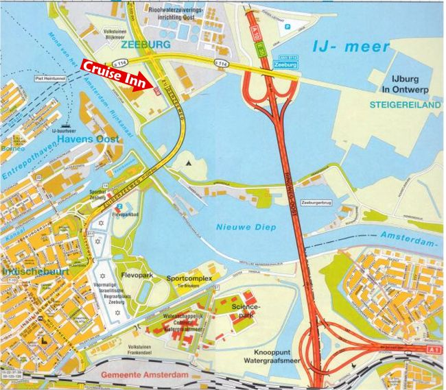 Route naar de Cruise Inn